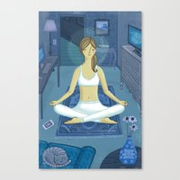 meditation Canvas Prints featuring Meditation by Anne Was Here