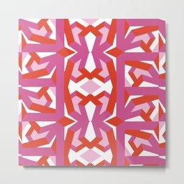 Pink red pattern Geometric funny Metal Print