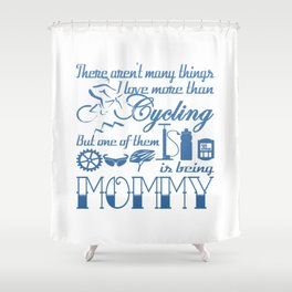 Cycling Mommy Shower Curtain