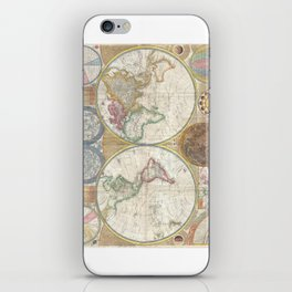 1794 Laurie & Whittle Old Map of the World iPhone Skin