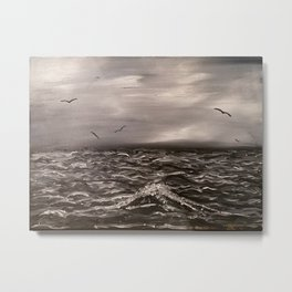Alone with the sea Metal Print