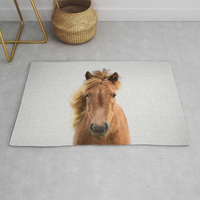 Wild Horse Colorful Rug By Galdesign