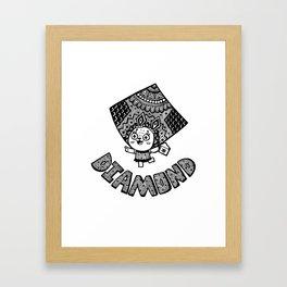 Diamond of Bunny Framed Art Print