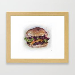 #Foodporn - Burgerz Framed Art Print