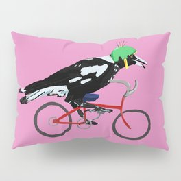 Magpie Bike Swoop (in Pink) Pillow Sham