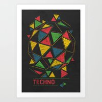 techno Art Prints featuring Techno by Sitchko Igor