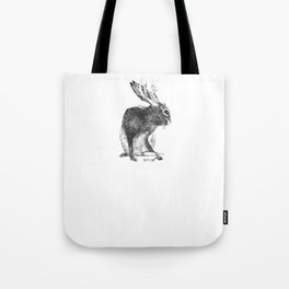 Japanese jackalope Tote Bag