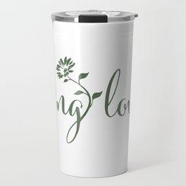 feeling lovely | sage green floral Travel Mug