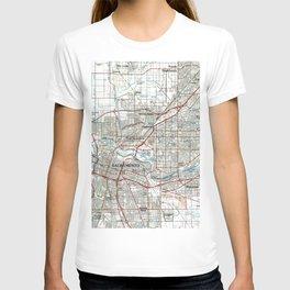 Sacramento California Map (1994) T-shirt