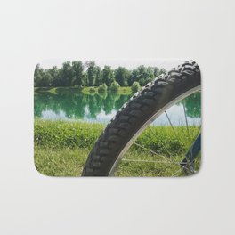 Nice day for a ride Bath Mat