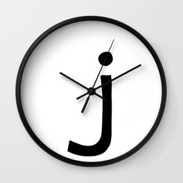J Monogram (Hand 2) Wall Clock