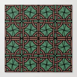 Stained Glass - Green and Red Canvas Print