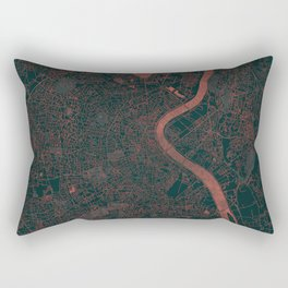 Bordeaux Map Red Rectangular Pillow