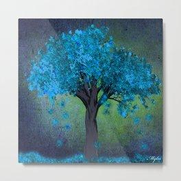 TREE OF BLUE Metal Print