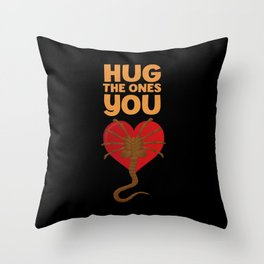 Facehugger Throw Pillow
