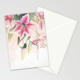 Blush lilium Stationery Cards