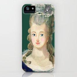 Marie Antoinette portrait iPhone Case