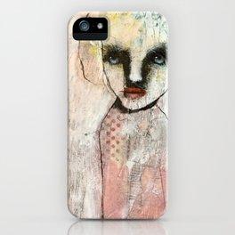 Monochrome portrait iPhone Case