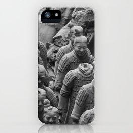 B&W Terra Cotta Warriors iPhone Case