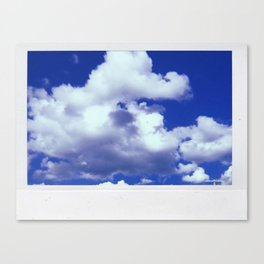 Clouds on Film Canvas Print