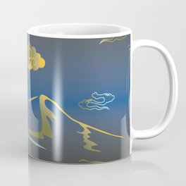 Mountains and hills in the moonlight. Coffee Mug