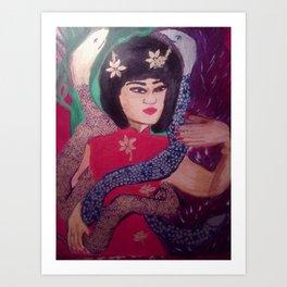 Sexy Snake Lady Art Print