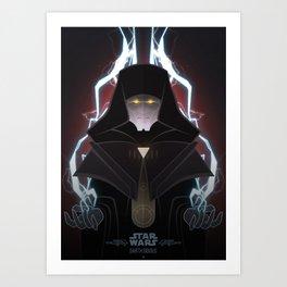 StarWars Villains - Darth Sidious Art Print
