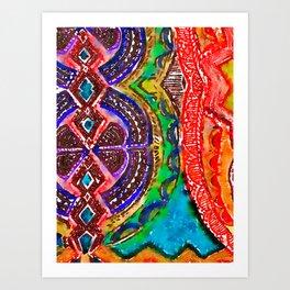 Pattern Frenzy Art Print