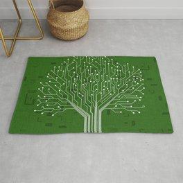 Tree Green Motherboard Geek Decor Rug
