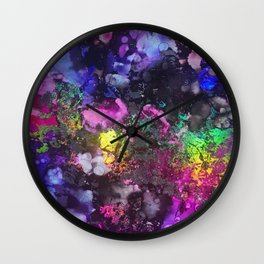 Unicorn Blood Alcohol Ink and Reactive Foil Wall Clock