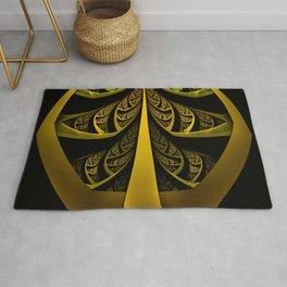 Gold-Leafed Foil Fractal Latticework for LUX VOIR Rug