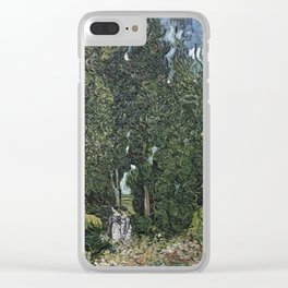 Vincent  Van Gogh - The  Cypresses Clear iPhone Case