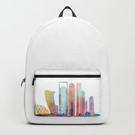 Abu Dhabi V2 landmarks watercolor poster Backpack