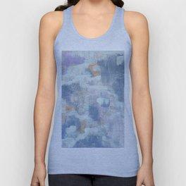 Serene Blue Abstract Art Unisex Tank Top