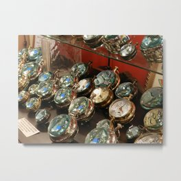 Paper Weight Clocks Metal Print