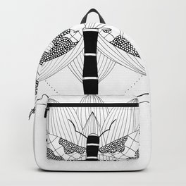 Dragonfly Over Lotus Backpack