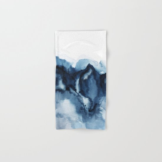 Abstract Indigo Mountains Hand & Bath Towel
