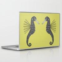 sea horse Laptop & iPad Skins featuring Sea Horse by Amanda James