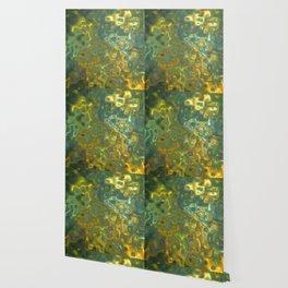 Green Yellow Gemstone Pattern Wallpaper