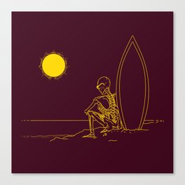 No waves, just waiting and relax (forever)... Canvas Print