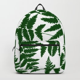 Modern abstract forest green watercolor fern floral Backpack