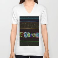 starry night V-neck T-shirts featuring Starry Starry Night by Lior Blum