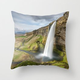 Seljalandsfoss Iceland Ultra HD Throw Pillow