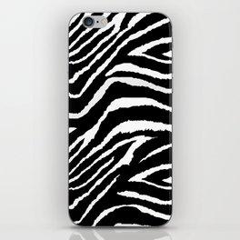 Animal Print Zebra Black and White iPhone Skin