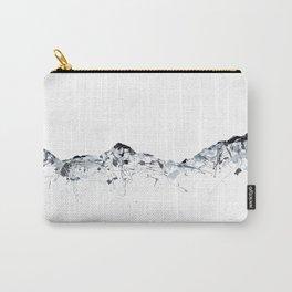 Eiger/Mönch/Jungfrau mountainsplash grey Carry-All Pouch