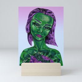 Emerald Gemstone Girl Mini Art Print