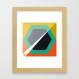 London - retro hexagon Framed Art Print