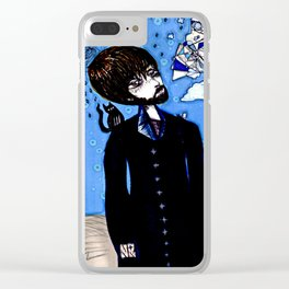 Sky Anomaly Figure Clear iPhone Case