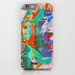 Grunge Abstract Watercolour 2 iPhone Case