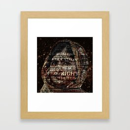 One Book, One Pen, One Child, and One Teacher Can Change The World !!! Framed Art Print